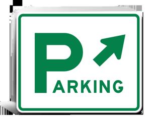 Municipal Lot Parking Signs