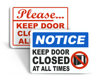 Door Closed Signs