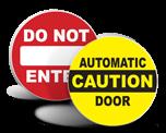 Door Safety Labels