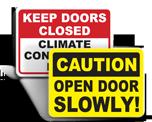 Door Safety Signs