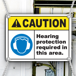 Ear Protection Signs