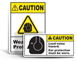 Ear Protection Labels