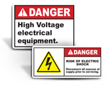 Electrical Equipment Labels