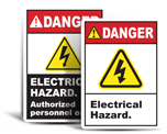 Electrical Hazard Labels