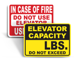 Freight Elevator Signs
