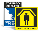 Emergency Shelter Signs