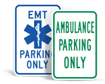 Emergency Vehicle Parking Signs