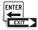 Enter / Exit Signs