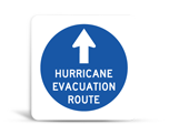 Evacuation Route Signs