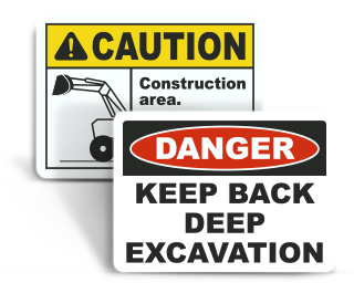 Excavation Warning Signs