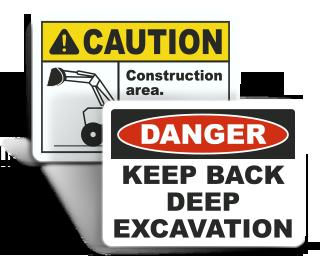Excavation Warning Signs