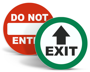 Exit Stickers