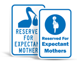 Expectant Mother Parking Signs