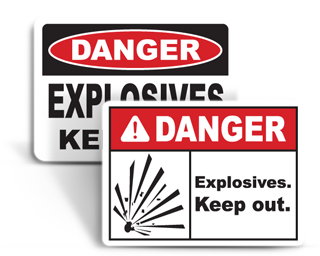 Explosives Signs