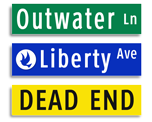 Street Name Signs - Extruded Blade