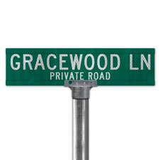 Extruded Street Signs