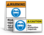 Eye Protection Required Labels
