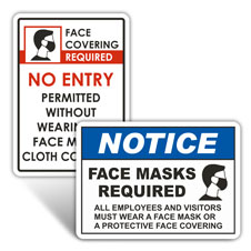 Wear Face Mask/Covering Signs