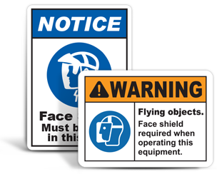Face Shield Signs