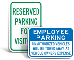 Facility Parking Signs
