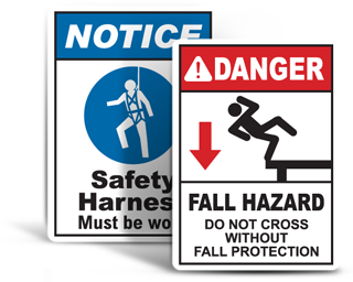 Fall Protection Signs