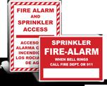 Fire Alarm Sprinkler Signs
