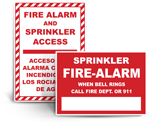 Fire Alarm Sprinkler Signs
