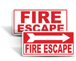 Fire Escape Signs