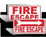 Fire Escape Signs