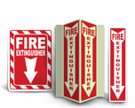 Plastic Fire Extinguisher Signs