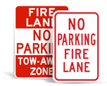 Fire Lane No Parking Signs