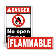 Flammable Labels