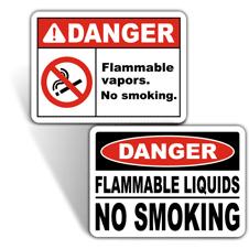 Flammable No Smoking Signs