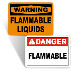 No Smoking Flammable Signs