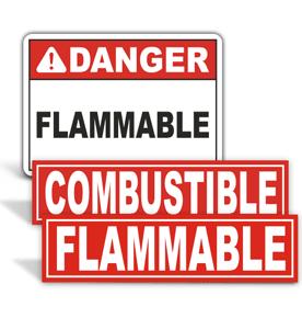 No Smoking Flammable Signs