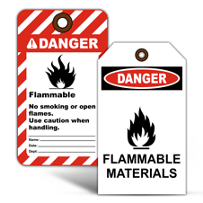 Flammable Warning Tags