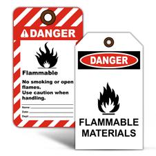 Flammable Warning Tags