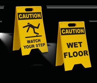 Folding Floor Signs