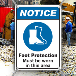 Foot Protection Signs