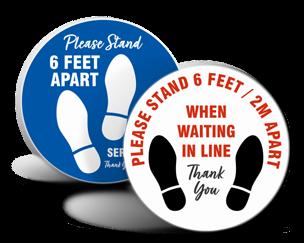 Footprint Stickers