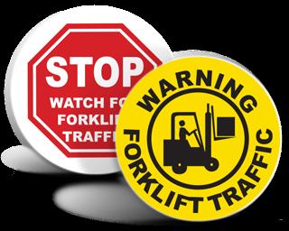 Forklift Floor Signs