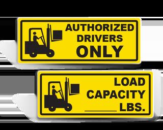 Forklift Warning Labels
