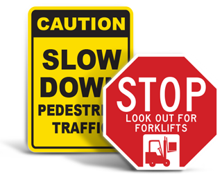In-Warehouse Traffic Signs