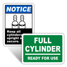 Gas Cylinder Signs and Tags