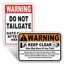 Gate Warning Signs