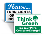 Go Green Signs