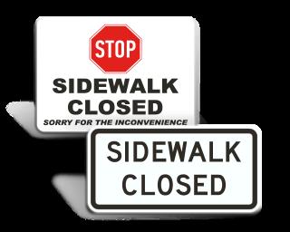Sidewalk Construction Signs