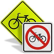 Bike Road Signs
