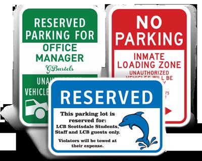 Custom Parking Signs