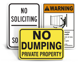 Facility Property Signs